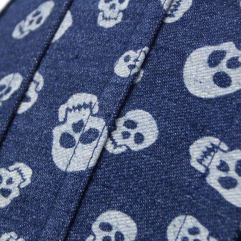 Skulls On Denim Corset