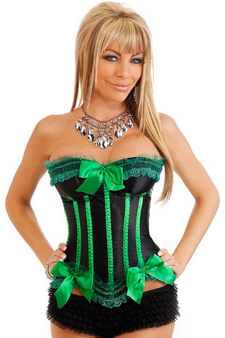 Green Apples Burlesque Overbust Corset