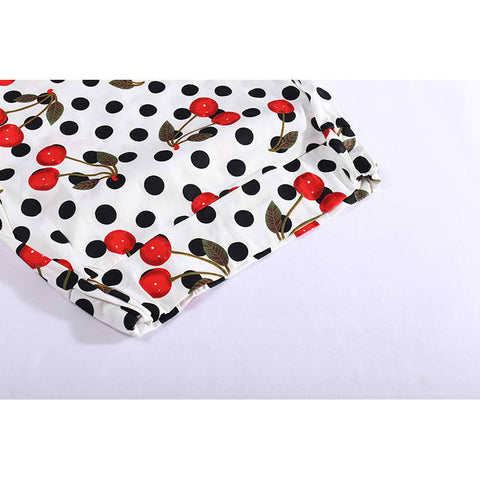 Polka Dot Cherry Bodycon Skirt