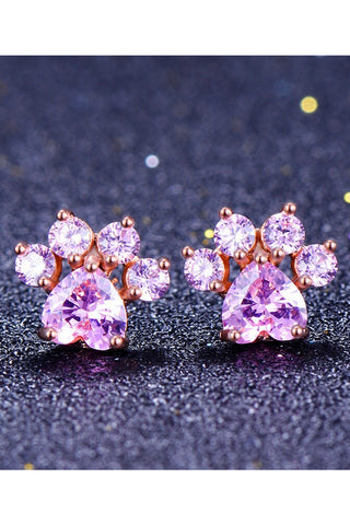 Atomic Tiny Paw Stud Earrings