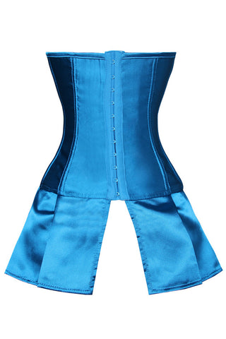 Little Shades of Blue Lace Up Skirted Corset