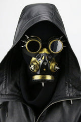 Gold and Silver Steampunk Gas Mask