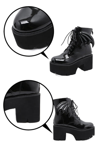 Atomic Black Bat Gothic Boots