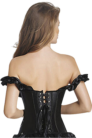 Just Give Me Black Off Shoulder Overbust Corset