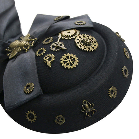 Victorian Beetle Bowler Hat Fascinator