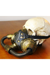 Black Steampunk Pipeline Gas Mask