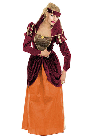 Maroon and Orange Royal Costume
