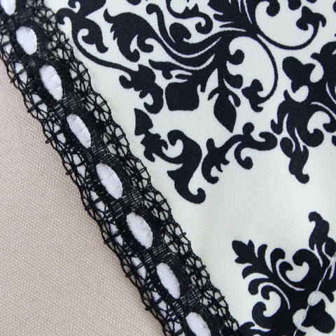 Black and White Damsel Overbust Corset