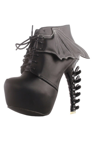 Two Toned Bat Ankle Boots