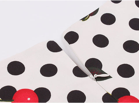 Cherries and Polka Dots Swing Dress
