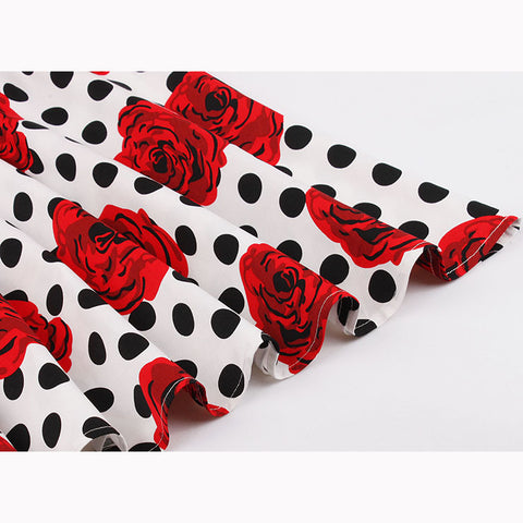 Roses and Polka Dots Swing Dress
