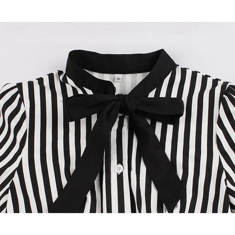 Black and White Butterfly Collar Dress
