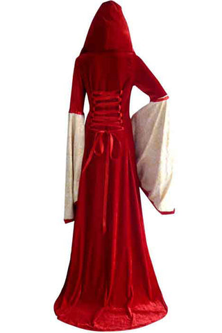 Red Hooded Robe Costume