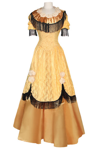 Deluxe Gold and Black Vintage Inspired Dress