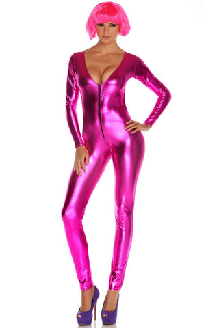 Metallic Rose Catsuit