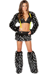 Black and White Furry Go-Go Dancer