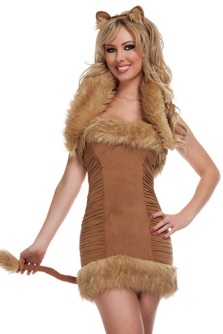 Brown Furry Lioness Costume