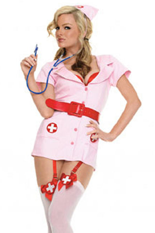 Pink Provocative Nurse Costume