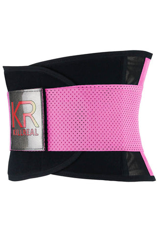 Killreal Pink Workout Waist Trainer Belt