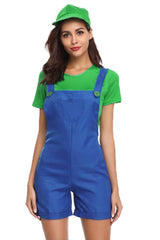 Green and Blue Plumber Overalls Costume