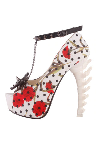 Show Story Chained Rivets Bone High Heels