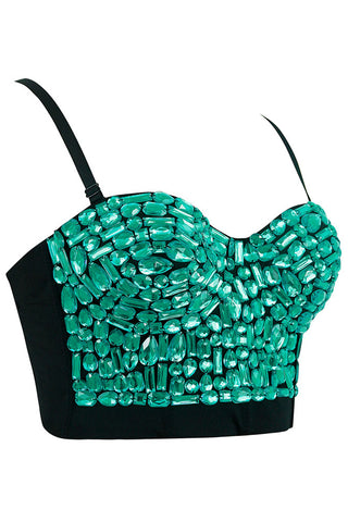 Studded Sweet Bustier Clubwear Top