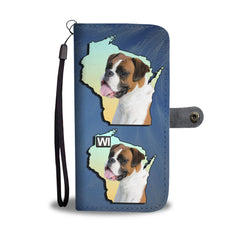 Amazing Boxer Dog Print Mobile Phone and Wallet Case Cover WI State