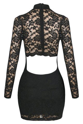 Open Back Laced Bodycon Dress
