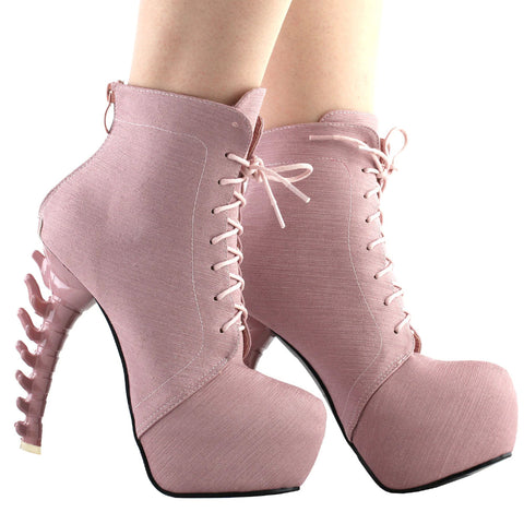 Lace Up Punk Ankle Boots
