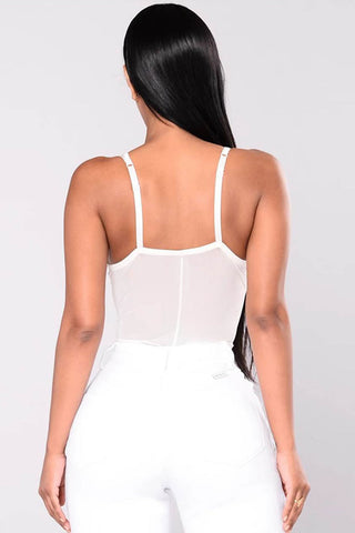 High Lace Eyelash Splice Bodysuit