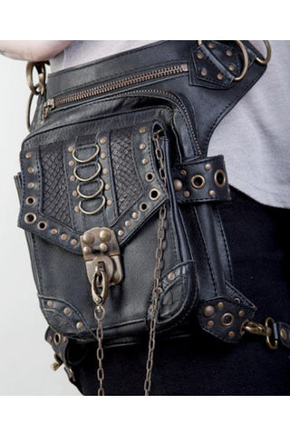 Rings and Rivets Leather Bag