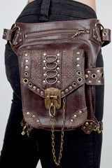 Brown Leather Holster Bag