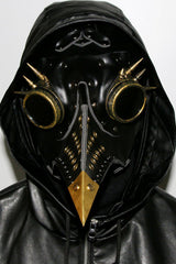 Black Dr. Plague Spiked Bird Mask