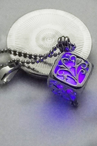 Purple Glow In The Dark Boxed Tree Necklace
