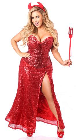 Top Drawer Premium Red Sequin Devil Costume