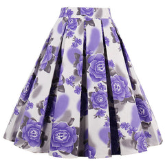 Purple Rose Rockabilly Skirt