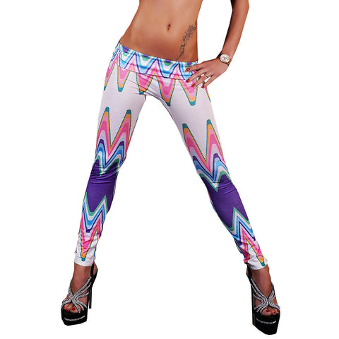 Colorful Wave Print Leggings