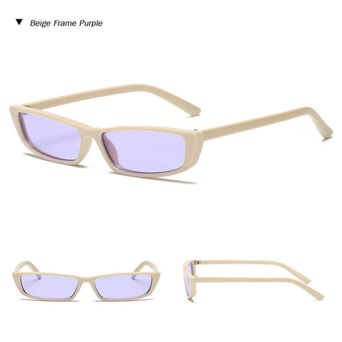 Rectangular Vintage Edge Sunglasses
