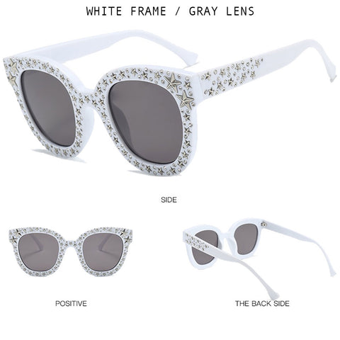 Starry Crystal Square Sunglasses