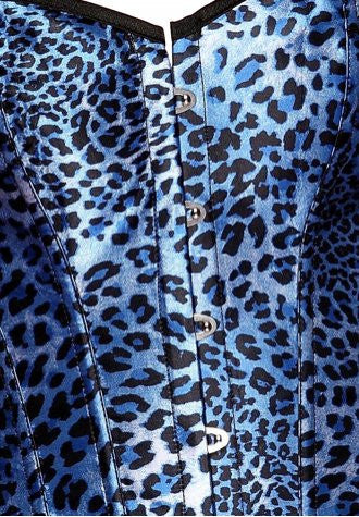 Atomic Stylish Blue Leopard Corset