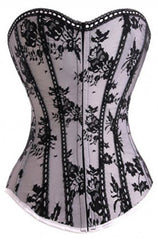 Atomic Satin Floral Lace Overbust Corset