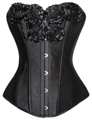 Atomic Night Blooming Flowers Overbust Corset