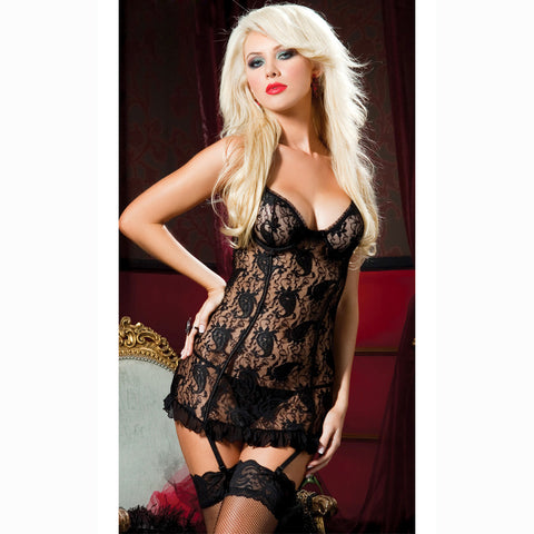 Atomic Black Paisley Pleasure Chemise