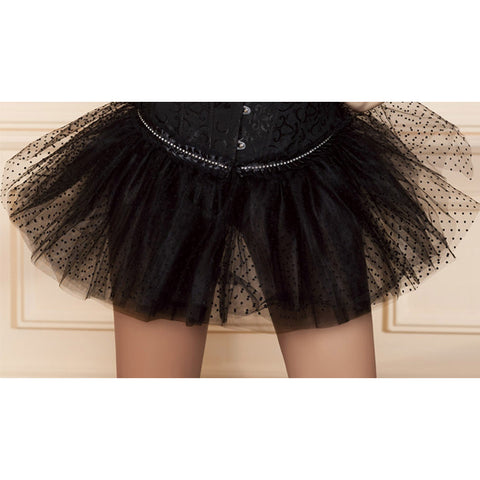 Atomic Flirty Black Dot Pettiskirt