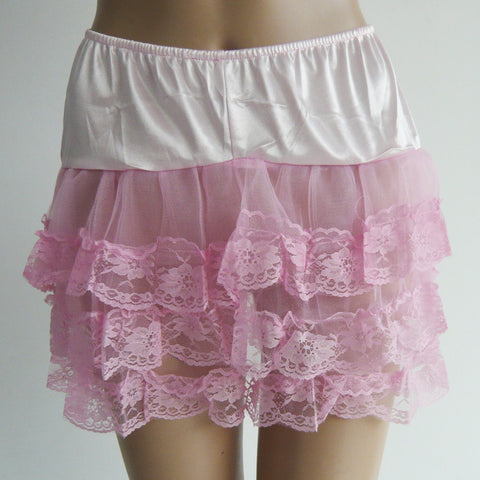 Atomic Pink and White Lace Petticoat