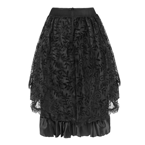 Black Lace Two Tiered Pettiskirt