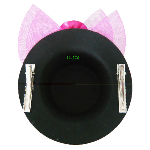 Atomic Deep Pink Sequined MIni Top Hat