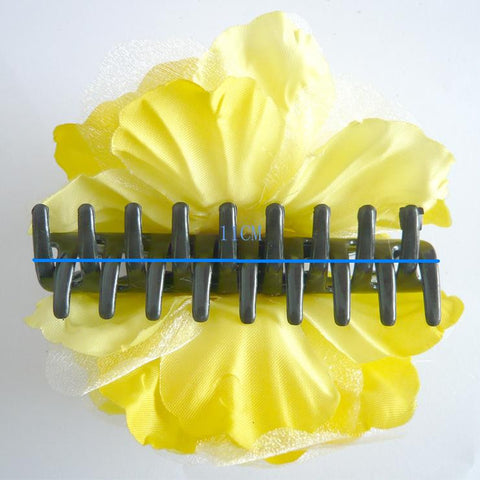 Atomic Yellow Rose Hair Clamp