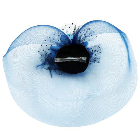 Atomic Blue Net Fascinator Hair Clip