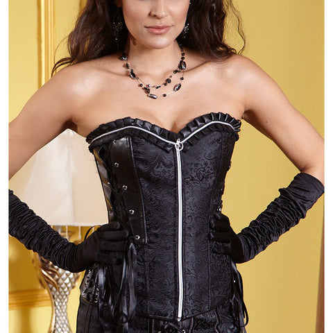 Black Embroidered Night Rider Corset